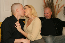 my wife kissing another man in front of me